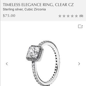Pandora Jewelry - PANDORA Timeless Elegance Ring, Clear CZ